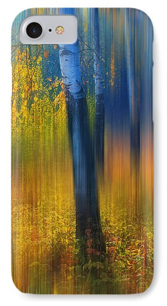 In The Golden Woods. Impressionism IPhone Case by Jenny Rainbow