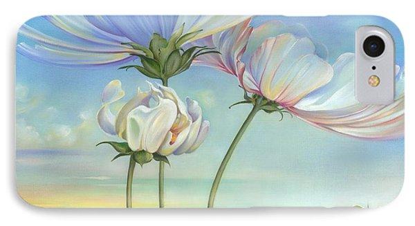 In The Half-shadow Of Wild Flowers IPhone Case by Anna Ewa Miarczynska