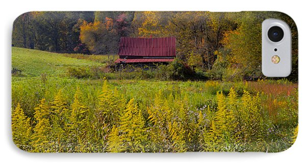 In The Heart Of Autumn Phone Case by Debra and Dave Vanderlaan