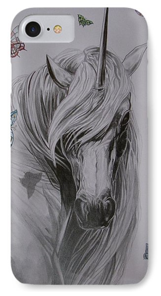 IPhone Case featuring the drawing In The Heaven by Melita Safran