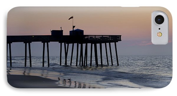 In The Morning On The Beach Ocean City Phone Case by Bill Cannon