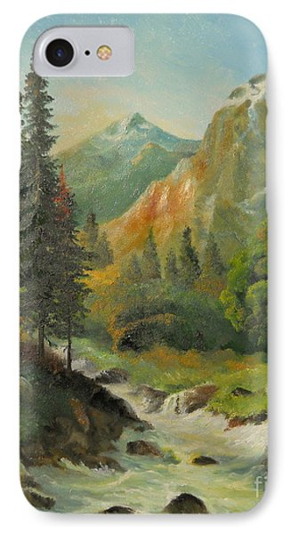 In The Mountains  IPhone Case by Sorin Apostolescu