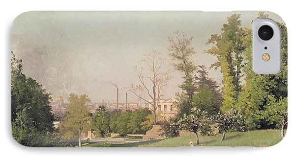 In The Park At Issy-les-moulineaux, 1876 Oil On Canvas IPhone Case