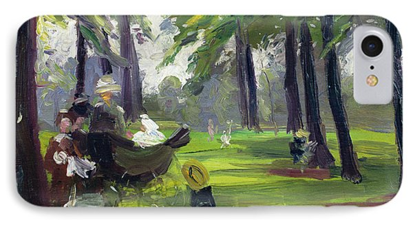 In The Park  IPhone Case by Mary C Greene