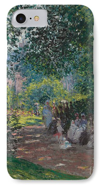 In The Park Monceau Phone Case by Cluade Monet