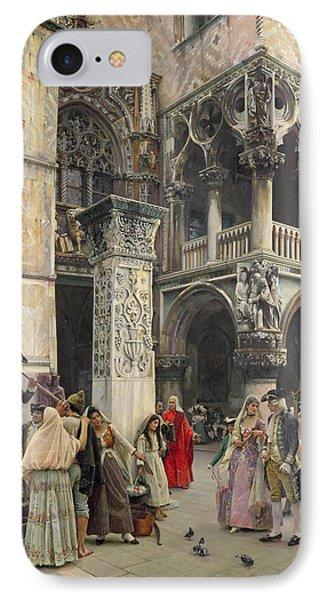 In The Piazzetta IPhone Case by William Logsdail