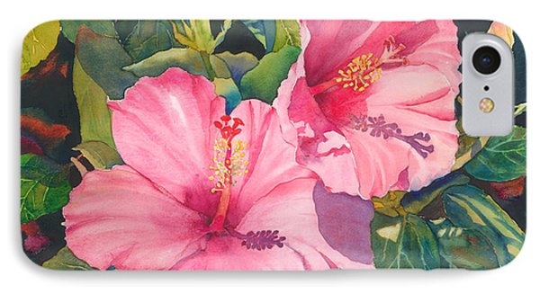 In The Pink IPhone Case by Judy Mercer