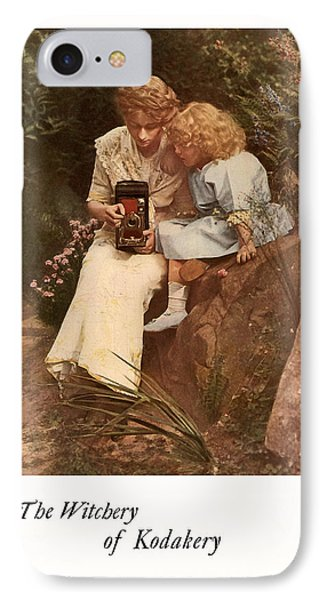 In The Rock Garden. Circa 1913. IPhone Case by Chris  Kusik