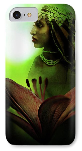 In The Secret Of Your Glance IPhone Case by Rebecca Sherman