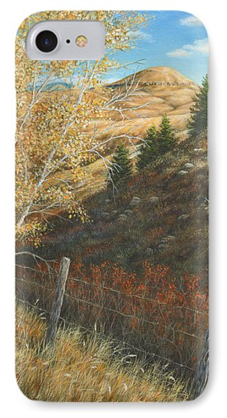 IPhone Case featuring the painting In The Shadow Of Belt Butte by Kim Lockman