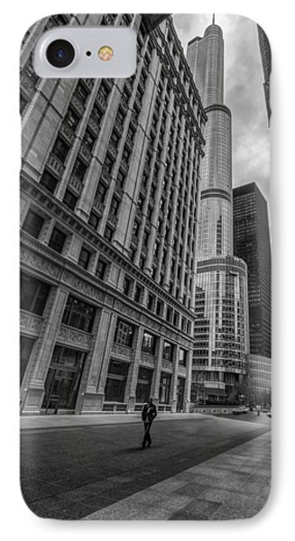 Wrigley Building And Trump Tower IPhone Case by Mike Burgquist