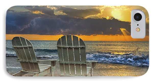 Shore iPhone 7 Case - In The Spotlight by Debra and Dave Vanderlaan