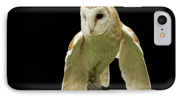 In The Still Of Night Barn Owl Phone Case by Inspired Nature Photography Fine Art Photography