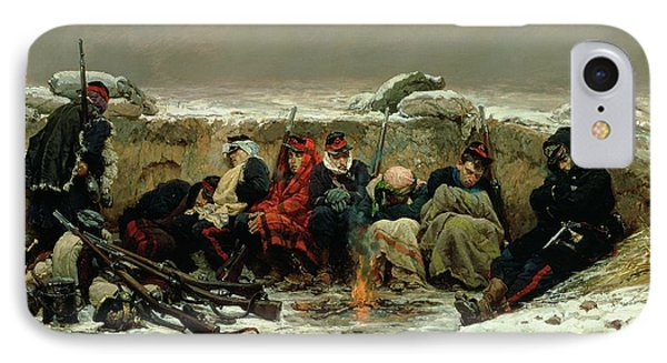 In The Trenches Phone Case by Alphonse Marie de Neuville