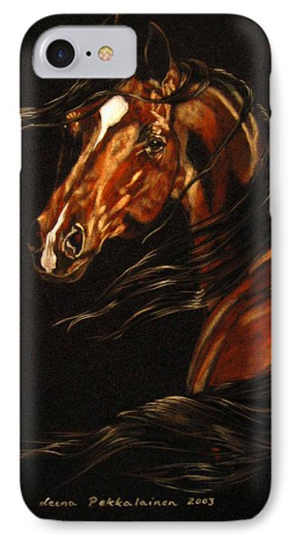 IPhone Case featuring the painting In The Wind by Leena Pekkalainen