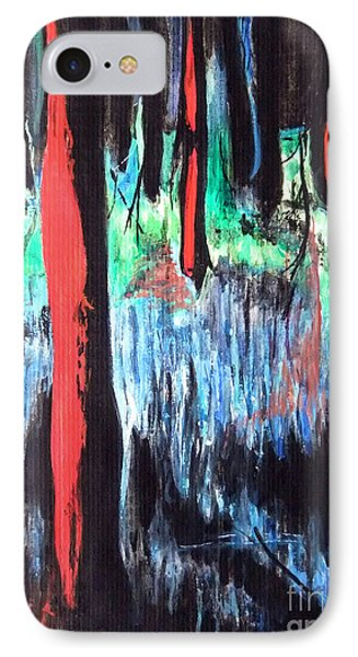IPhone Case featuring the painting In The Woods by Daniel Janda