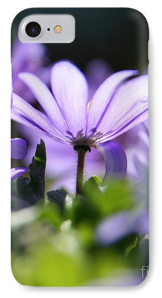 Floral Purple Light  IPhone Case by Neal Eslinger