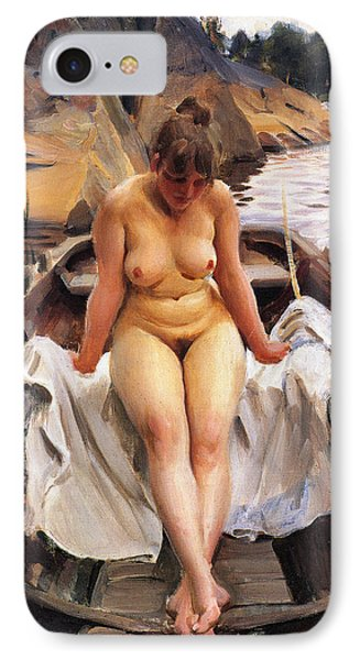 In Werners Rowing Boat Phone Case by Anders Zorn