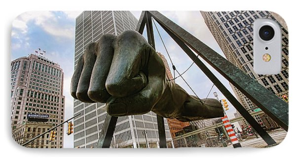 In Your Face -  Joe Louis Fist Statue - Detroit Michigan IPhone Case