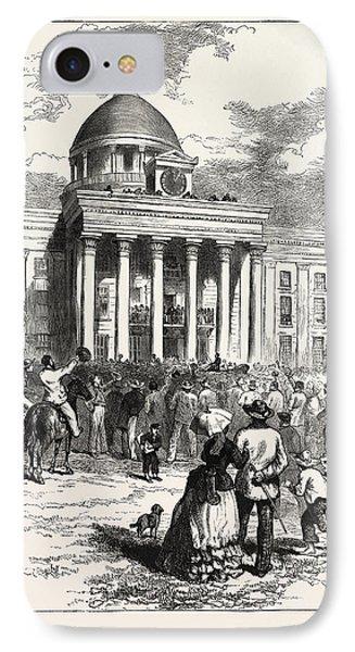 Inauguration Of Jefferson Davis IPhone Case