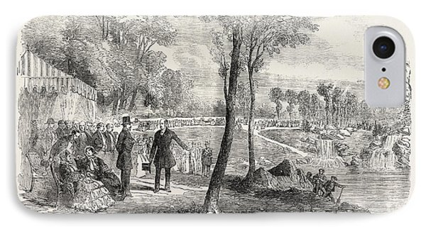 Inauguration Of The Cascades In The Bois De Boulogne Paris IPhone Case