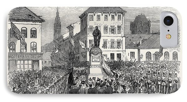 Inauguration Of The Statue Of Teniers At Antwerp Belgium IPhone Case
