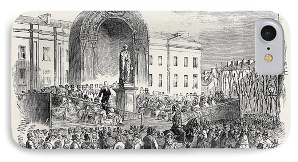Inauguration Of The Statue Of The Late Earl Of Belfast IPhone Case