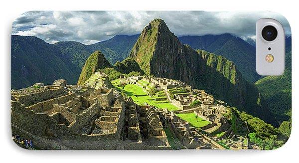 Inca City Of Machu Picchu, Urubamba IPhone Case by Panoramic Images
