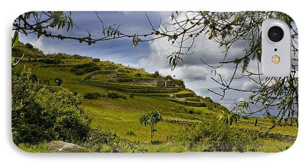 Inca Ruins On Mount Cojitambo In Ecuador Phone Case by Al Bourassa