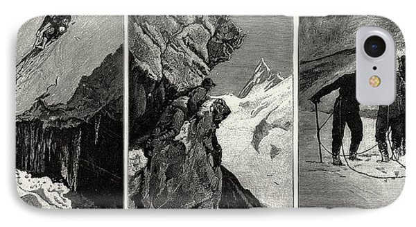 Incidents Of Climbing In The High Alps, 1889 IPhone Case