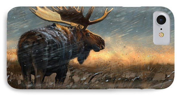 Incoming Storm IPhone Case by Aaron Blaise