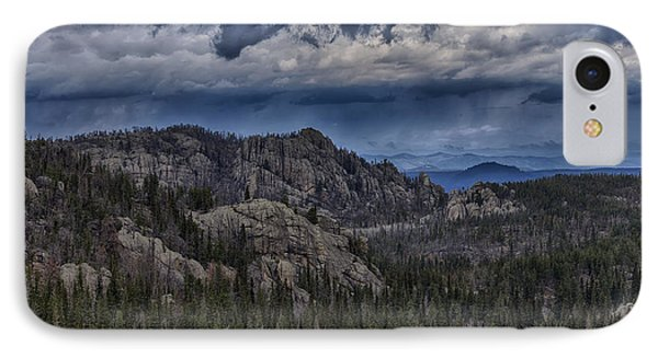 Incoming Storm Over The Black Hills Of South Dakota IPhone Case