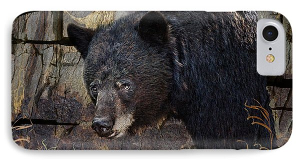 Inconspicuous Bear IPhone Case by Ed Hall