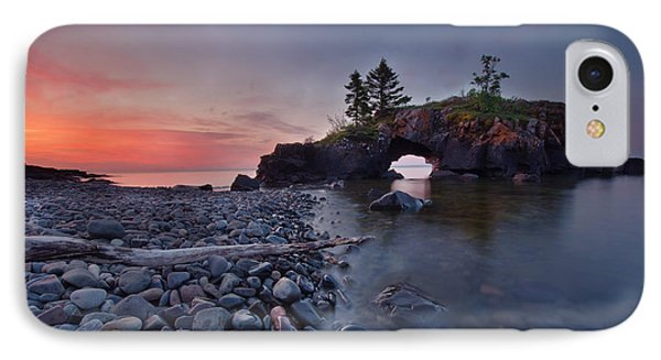 Hollow Rocks, North Shore Mn IPhone Case by RC Pics