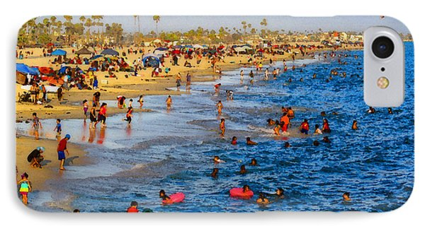 IPhone Case featuring the photograph Independence Day Beach Scene by Timothy Bulone