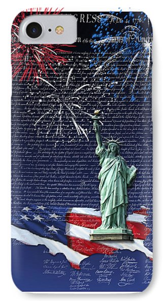 IPhone Case featuring the digital art Independence Day by Kathleen Holley