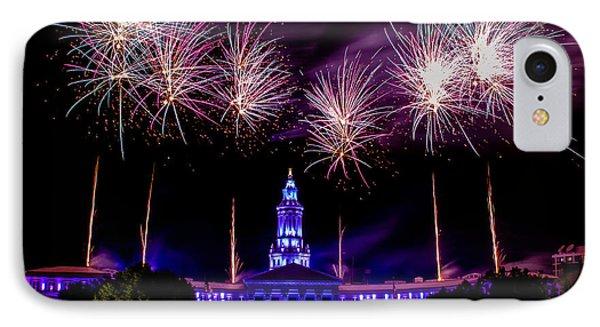Independence Eve In Denver Colorado Phone Case by Teri Virbickis