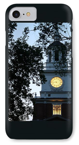 Independence Hall At Dusk IPhone Case by Christopher Woods