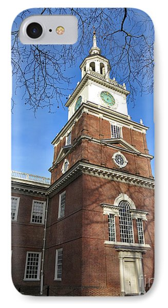 Independence Hall Bell Tower IPhone Case