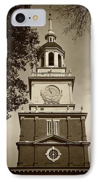 Independence Hall - Bw IPhone Case by Lou Ford