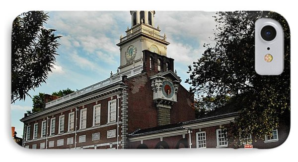 IPhone Case featuring the photograph Independence Hall by Ed Sweeney