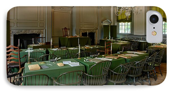 Independence Hall In Philadelphia Phone Case by Olivier Le Queinec
