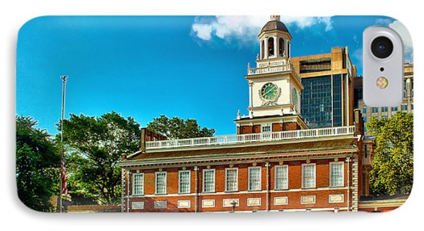 Independence Hall IPhone Case by Nick Zelinsky