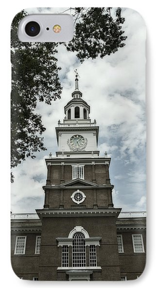 IPhone Case featuring the photograph Independence Hall Postcard by Glenn DiPaola