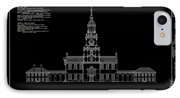 Independence Hall - South Elevation IPhone Case