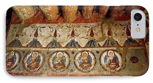 India, 10th Century Murals IPhone Case by Jaina Mishra