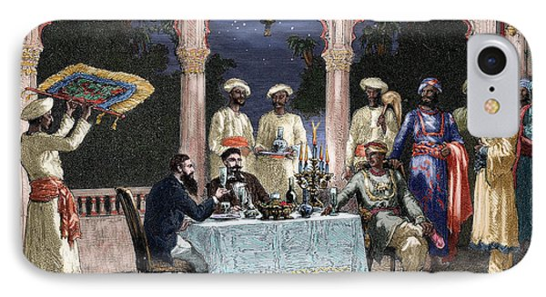 India  British Colonial Era  Banquet At The Palace Of Rais In Mynere IPhone Case by Hildibrand