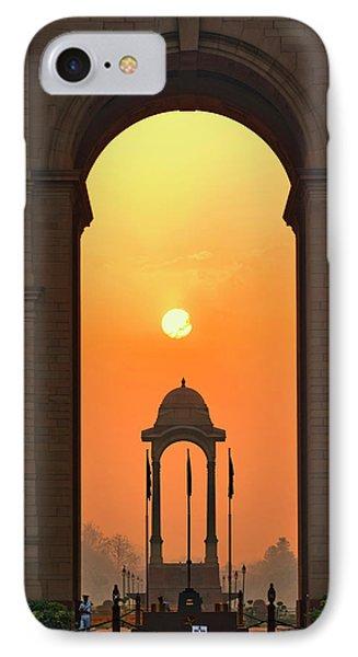 India Gate, A War Memorial In New Delhi IPhone Case by Adam Jones