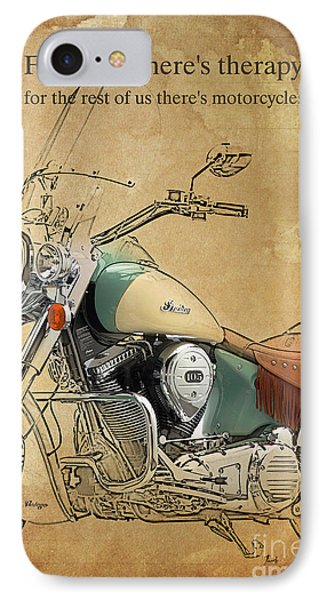 Indian Bike Portrait And Quote IPhone Case by Pablo Franchi