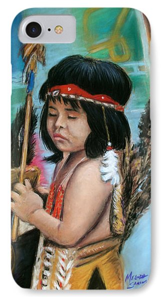 IPhone Case featuring the painting Indian Boy by Melinda Saminski